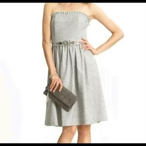 Strapless Banana Republic Dress With Jewel Sash